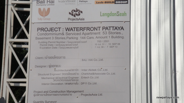 Waterfront Suites & Residences - 7 November 2012 - newpattaya.com