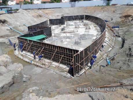 Centara Grand Residence foundation works - 8 June 2014 - newpattaya.com