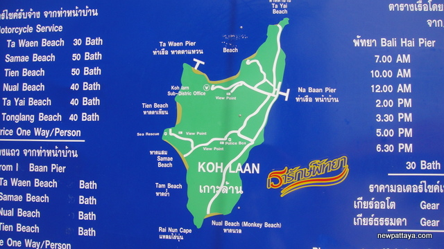Map of Koh Laan - Na Baan - 11 September 2012 - newpattaya.com