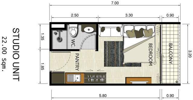 AbaTalay Studio Condominium
