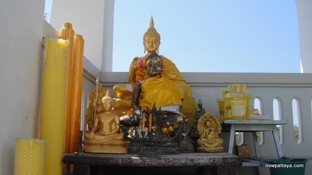 A shrine housing a copy of the Buddha's footprint