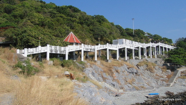 An elevated concrete promenade