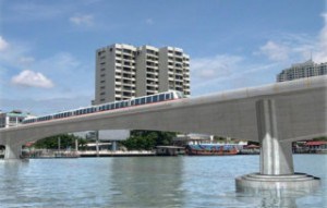 MRT Blue Line Railway Bridge