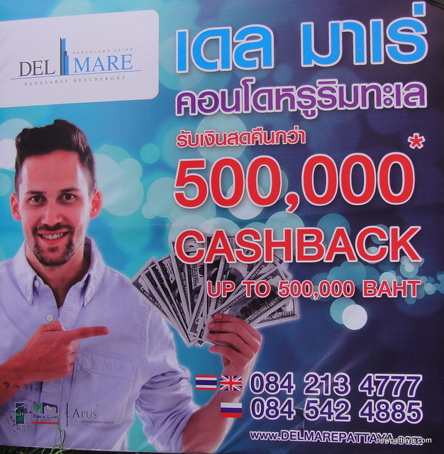 500.000 Baht Cash Back at Del Mare