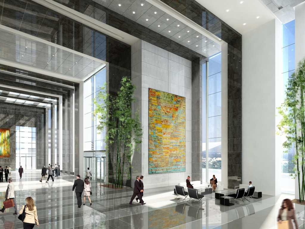 Lobby at Tulip Group's Office Tower