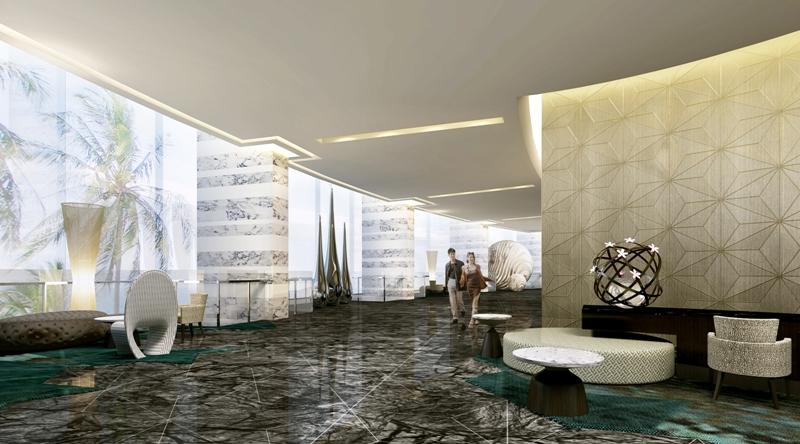 Waiting area at Centara Grand Resort and Spa Na Jomtien