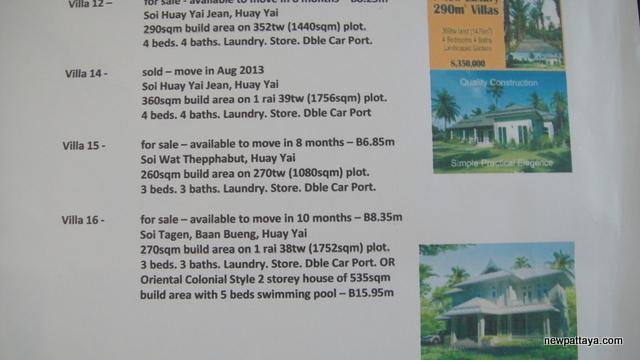 Huay Yai Villas - 25 June 2013 - newpattaya.com
