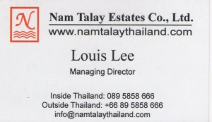 Louis Lee name card
