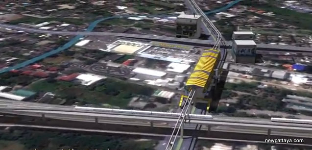 MRT Yellow Line Station 11 - Intersection with Airport Rail Link