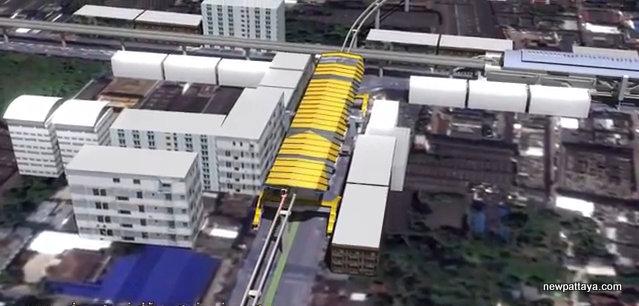 MRT Yellow Line Station 23 - Samrong, intersection with BTS Sukhumvit