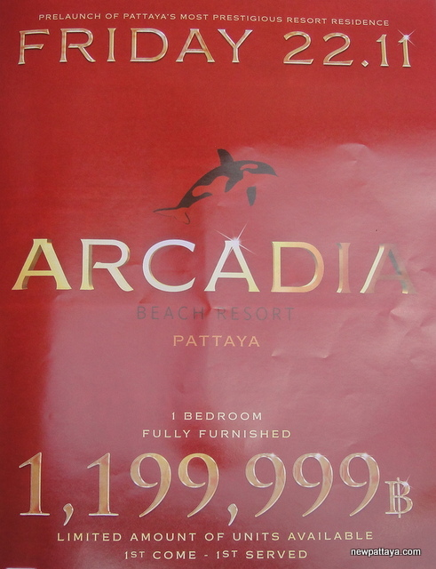 Arcadia Beach Resort Pattaya - 21 November 2013 - newpattaya.com