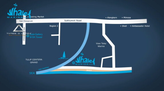 Whale Marina Condo Pattaya Map
