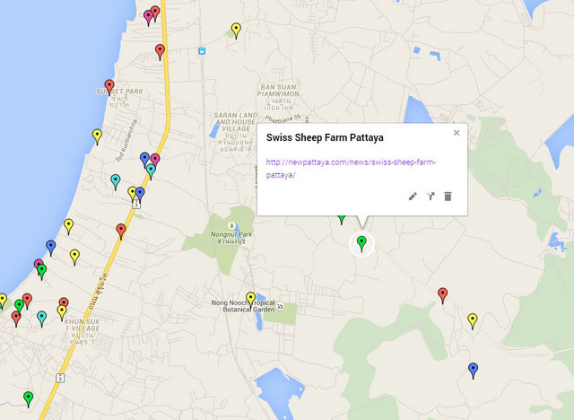 Swiss Sheep Farm Pattaya Map