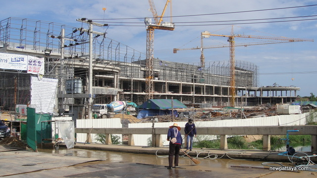 Shopping mall under construction