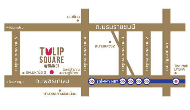 Map of Tulip Square @ Omnoi