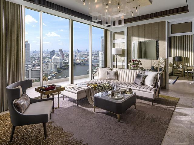 The Residences Mandarin Oriental Bangkok ICONSIAM Living room
