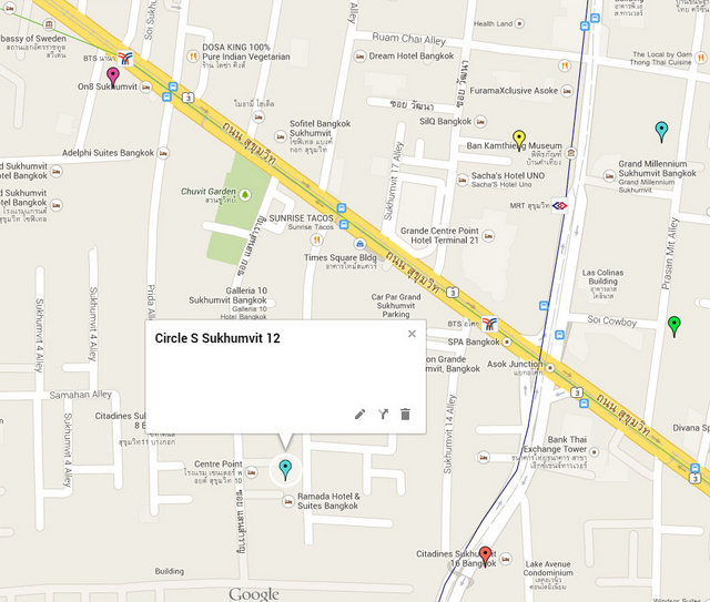 Circle S Sukhumvit 12 Google Maps
