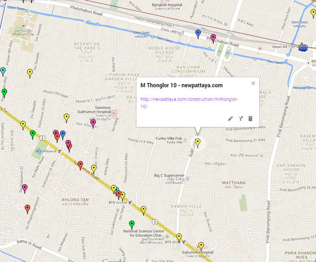 M Thonglor 10 Google Maps