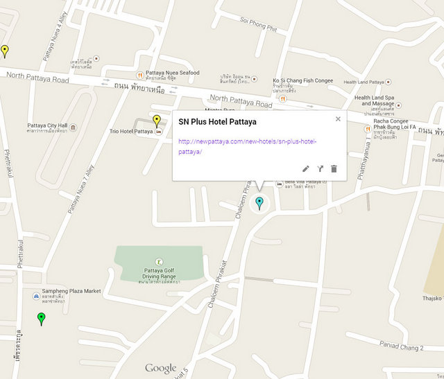 SN Plus Hotel Pattaya on Google Maps