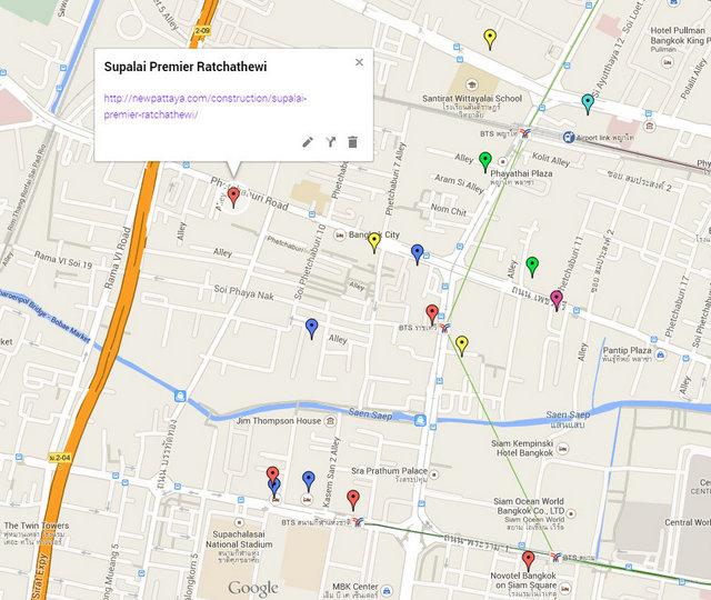 Supalai Premier Ratchathewi Google Maps