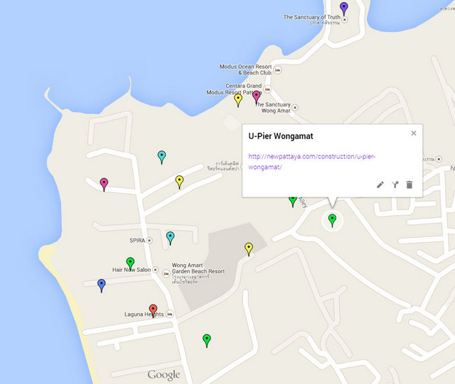U-Pier Wongamat Pattaya Google Maps