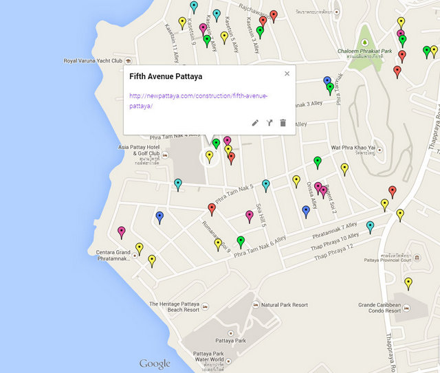 Fifth Avenue Pattaya Google Maps