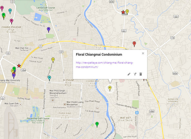 Floral Condo Chiang Mai Map
