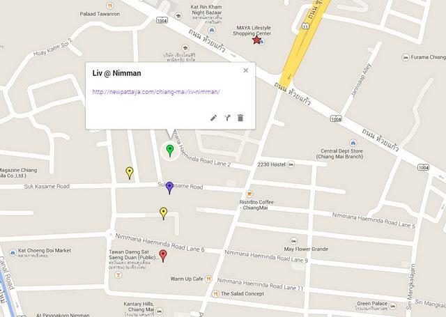 Liv @ Nimman Map