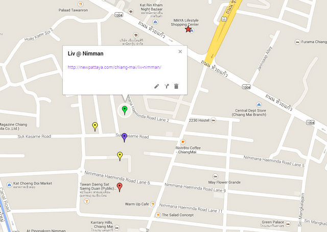 Liv @ Nimman Map