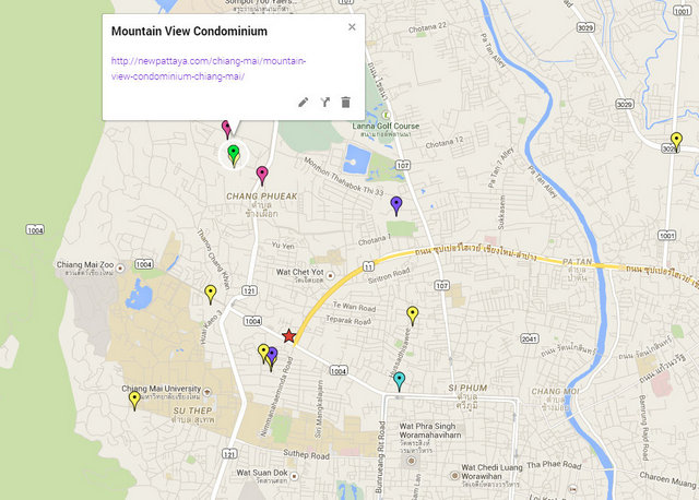 Mountain View Condominium Chiang Mai Google Maps