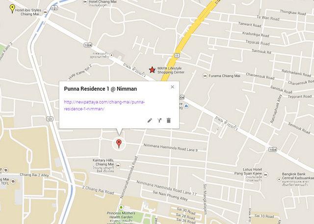 Punna Residence 1 @ Nimman Map