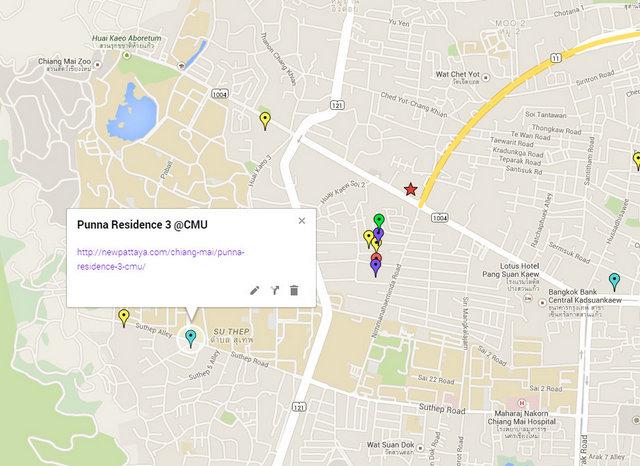 Punna Residence 3 @ CMU Map