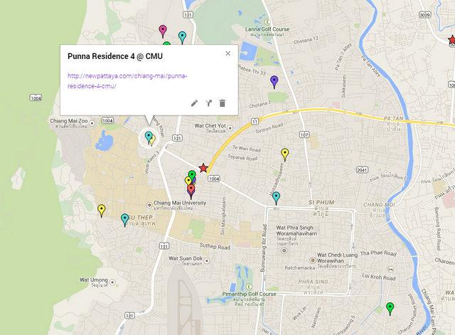 Punna Residence 4 @ CMU Map