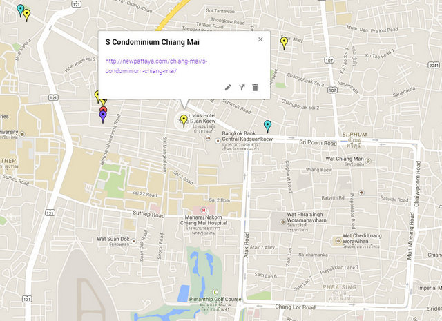 S Condominium Chiang Mai Map