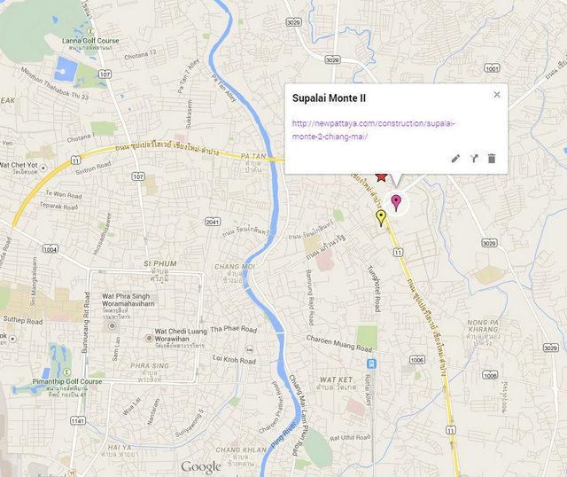 Supalai Monte 2 Google Maps