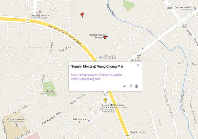 Supalai Monte @ Viang Chiang Mai Google Maps