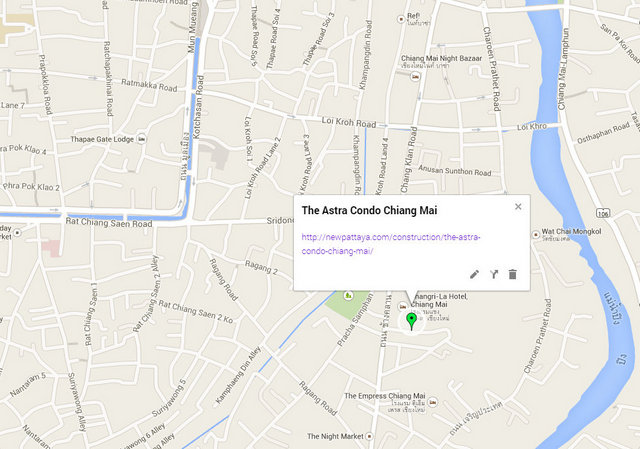 The Astra Condo Chiang Mai Google Maps
