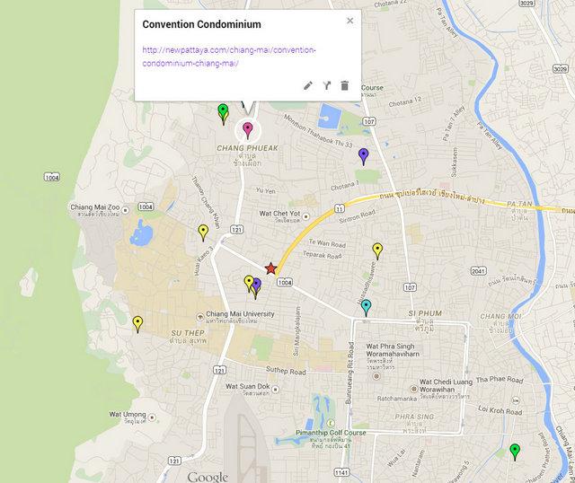 The Convention Condo Chiang Mai Google Maps