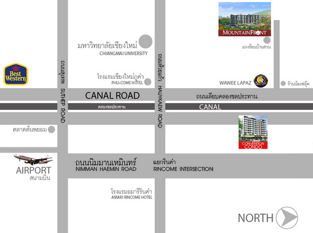 The Convention Condo Chiang Mai Map