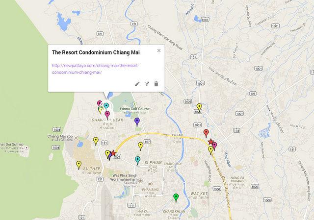 The Resort Condominium Chiang Mai Google Maps