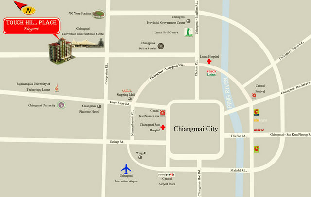 Touch Hill Place Chiang Mai Map