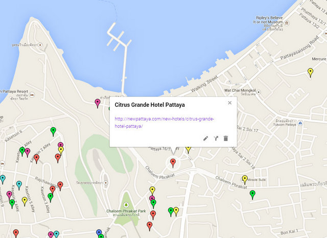 Citrus Grande Hotel Pattaya Map