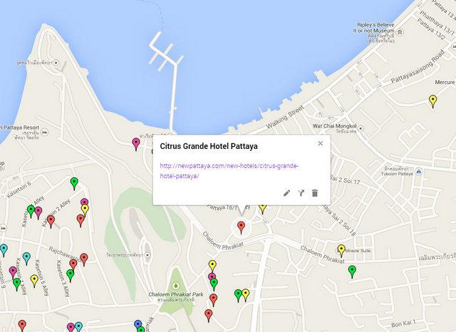 Citrus Grande Hotel Pattaya Map
