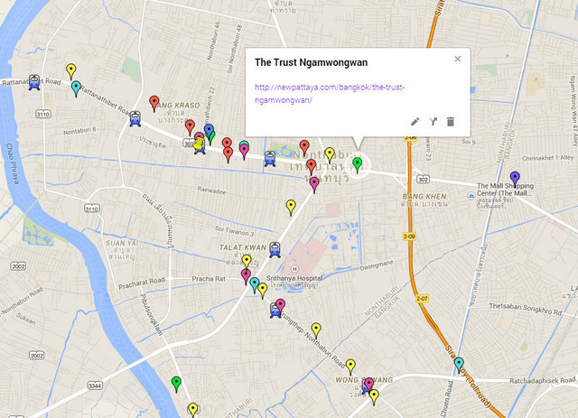 The Trust Ngamwongwan Map