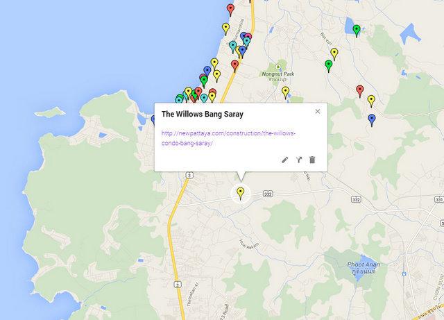 Willows Condo Bang Saray Map