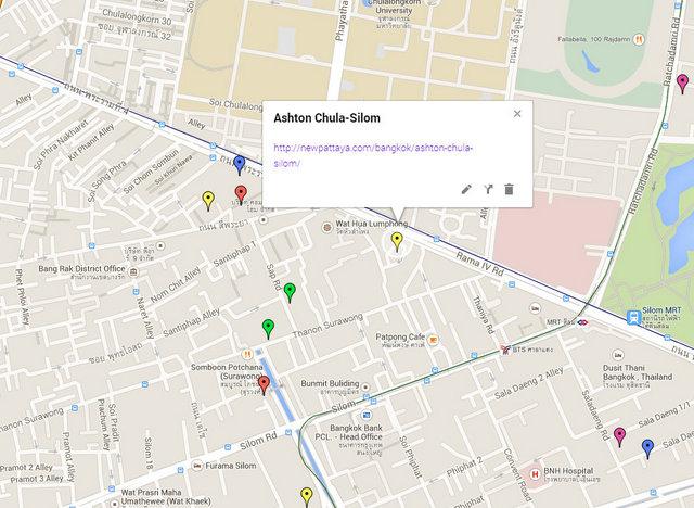 Ashton Chula-Silom Map
