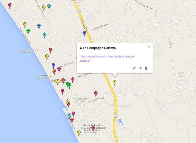 A La Campagne Pattaya Map