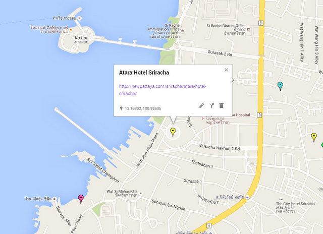 Atara Hotel Sriracha Map