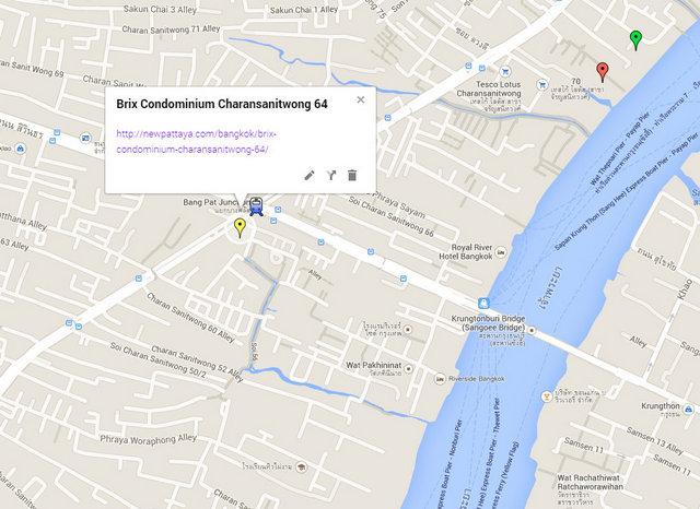 Brix Condominium Charansanitwong 64 Map