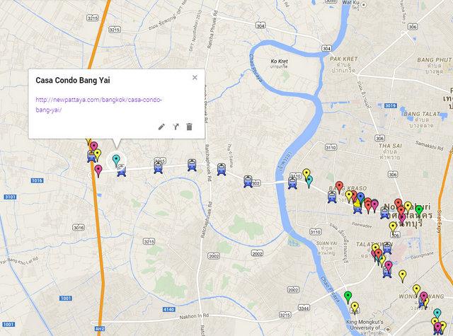 Casa Condo Bang Yai Map